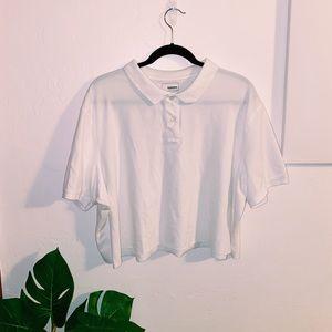 White Cropped Polo